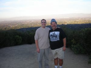 Joe with cousin Mike in California