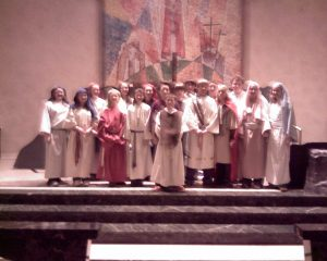 """A """"cast"""" from Living Stations of the Cross"""
