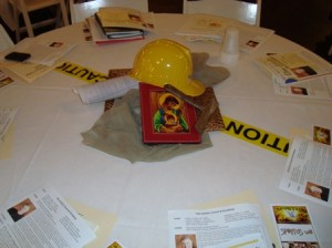Each table was decorated along these lines!
