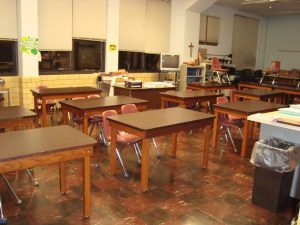 BEFORE - a science room
