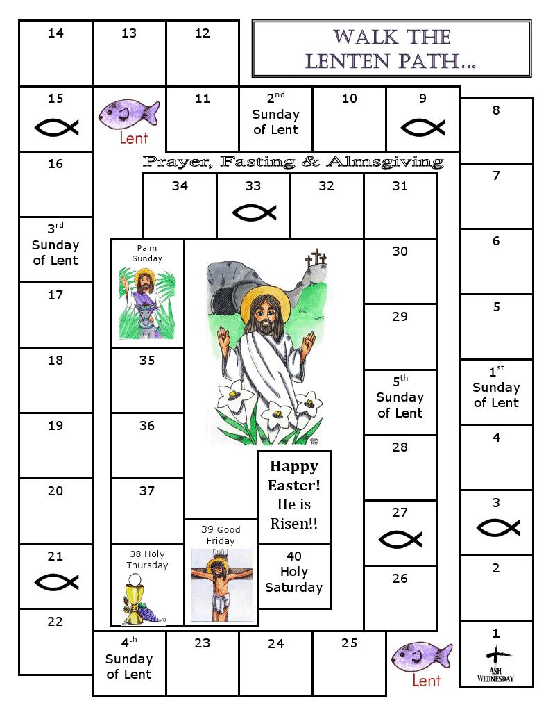 40 40 lenten activities walk the lenten path for Lent coloring pages