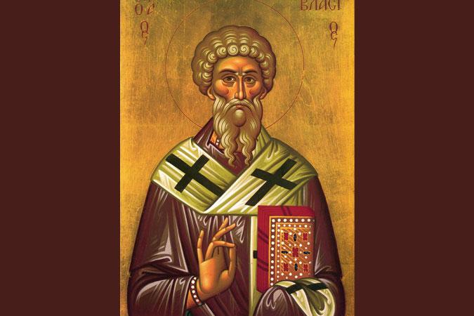 Saint Blaise icon