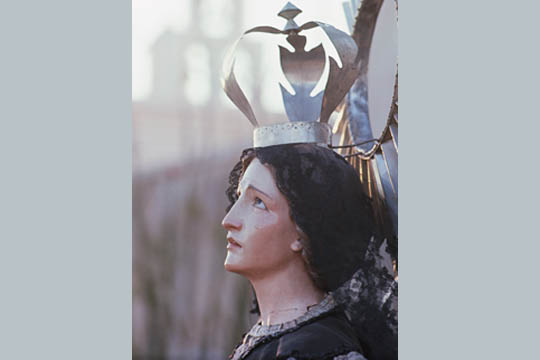 Mary wearing a crown