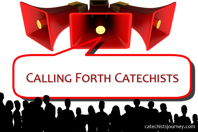 Calling Forth Catechists - text near loudspeakers