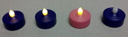 Advent tea lights