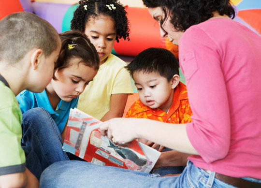 catechist reading to children
