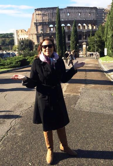 Joellyn Cicciarelli taking a well-deserved break from the conference to do some sightseeing in Rome