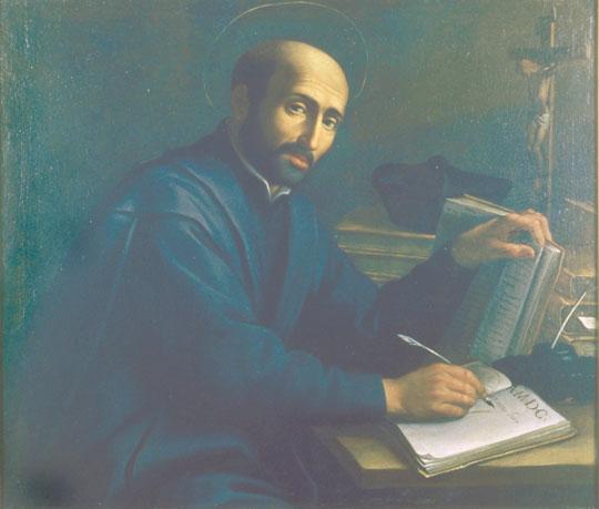 St. Ignatius Loyola at his desk