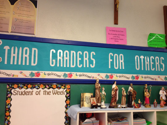Classroom theme displayed: Third Graders for Others