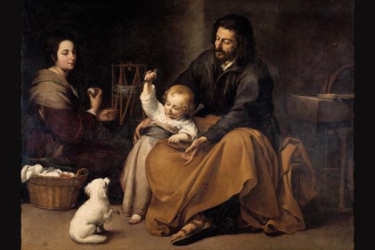 Sagrada Familia del pajarito (Holy Family) by Bartolome Esteban Murillo