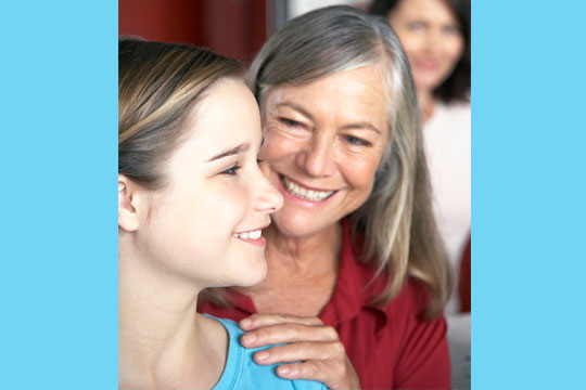 older woman is mentor to young person