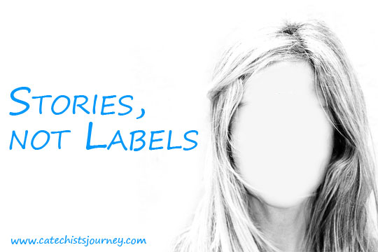 woman without face details - stories not labels