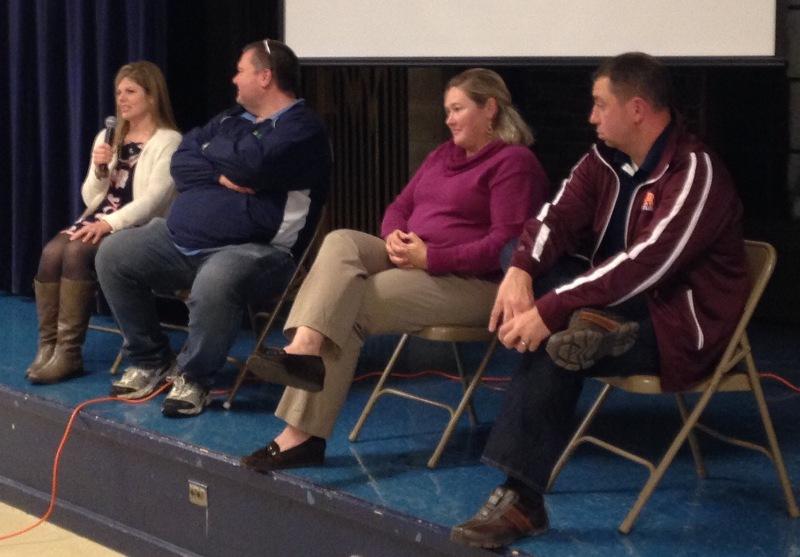 Faith Sharing panelists Susie Schultz, Erik Tait, Libba Hayes, and Jan Paul Murzyn
