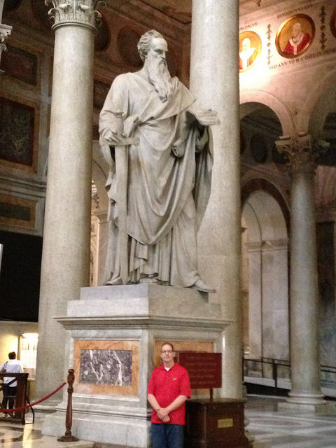 Here I am at St. Paul Outside the Wall in Rome where Ignatius and his 5 companions, including Francis Xavier, made their vows to begin the Society of Jesus - the Jesuits in 1541.