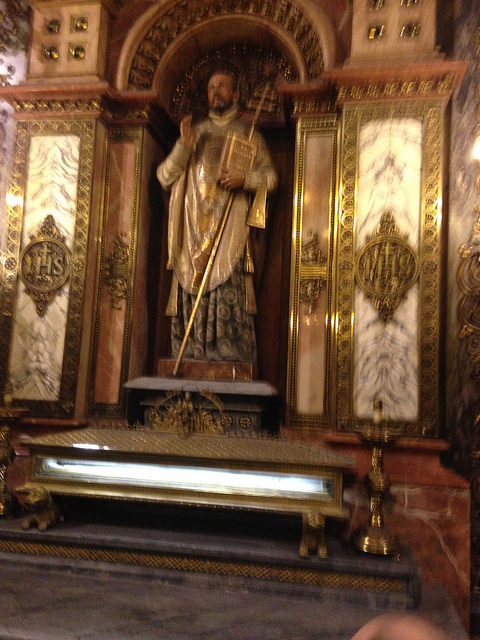 After his conversion, Ignatius makes a pilgrimage to the Sanctuary of Our Lady of Montserrat where he made a general confession and laid down his sword