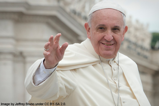 Pope Francis - image by Jeffrey Bruno under CC BY-SA 2.0