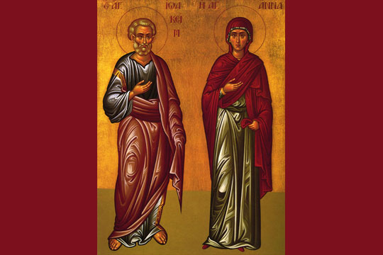 Saints Joachim and Ann - icon