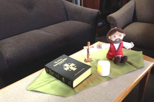 Jesus the Teacher plush figure