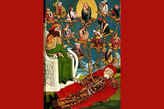 "Absolon Stumme, ""Hamburg Altar (The Tree of Jesse),"" 1499, public domain via Wikimedia Commons."
