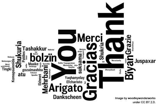 Thank You image by woodleywonderworks under CC BY 2.0