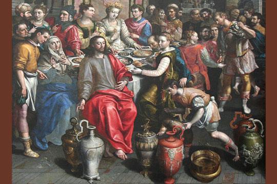 Marriage at Cana by Maerten de Vos