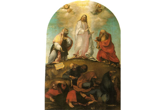 "Lorenzo Lotto's ""Transfiguration of Christ"""