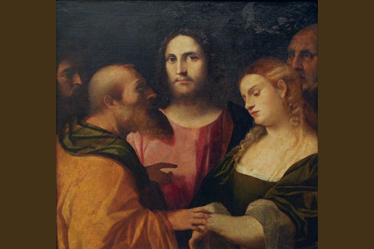 "Palma il Vecchio - ""Christ and the Adulteress"""