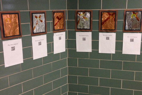 Stations of the Cross with QR codes