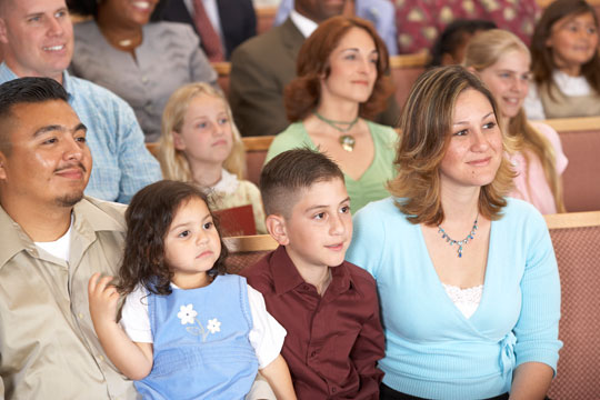 families in church
