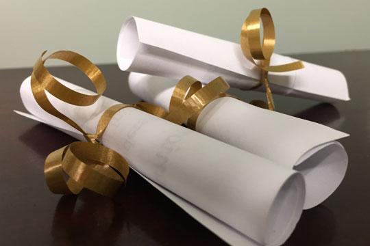 First Communion invitations - scrolls