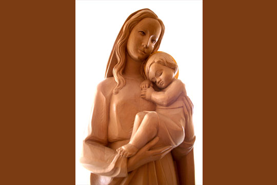 Mary with child Jesus - statue