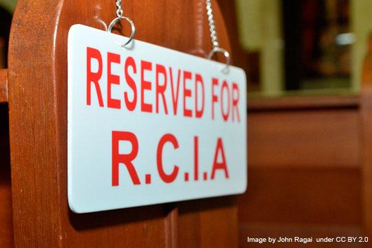 RCIA pew - Image by John Ragai under CC BY 2.0