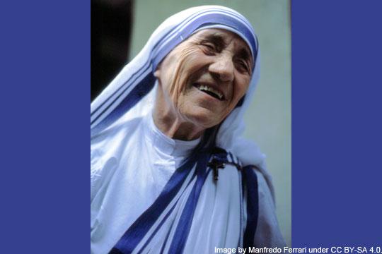 Mother Teresa of Calcutta - Manfredo Ferrari under CC BY-SA 4.0