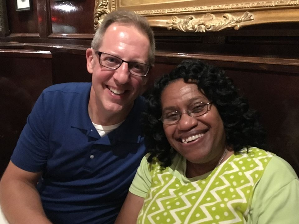 Here I am with long-time friend Adrienne Curry, a Chicago native who is now the Director of Peace and Justice for the Diocese of Youngstown.