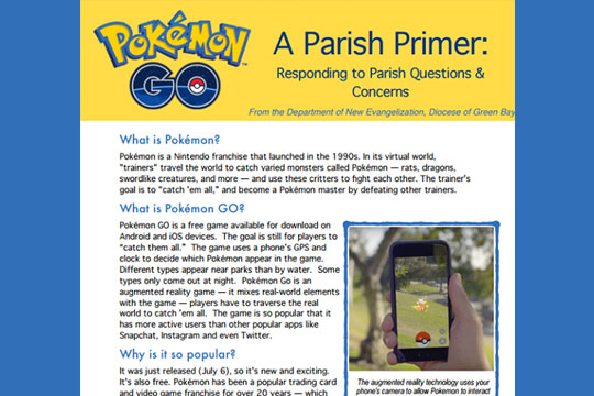 Pokevangelization by Dio of Green Bay