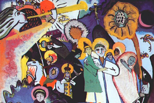 "Wassily Kandinsky - ""All Saints Day I"" - public domain via www.wikiart.org"