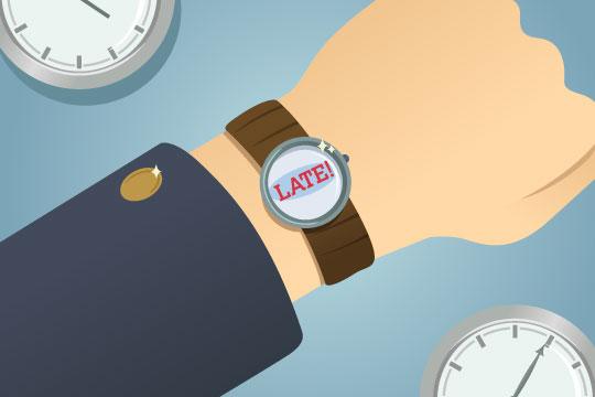 watch face - running late