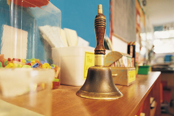 bell in classroom