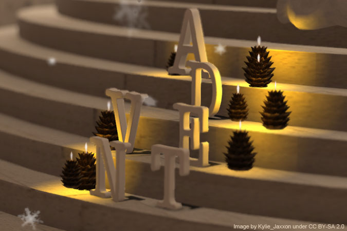 Advent - letters on steps