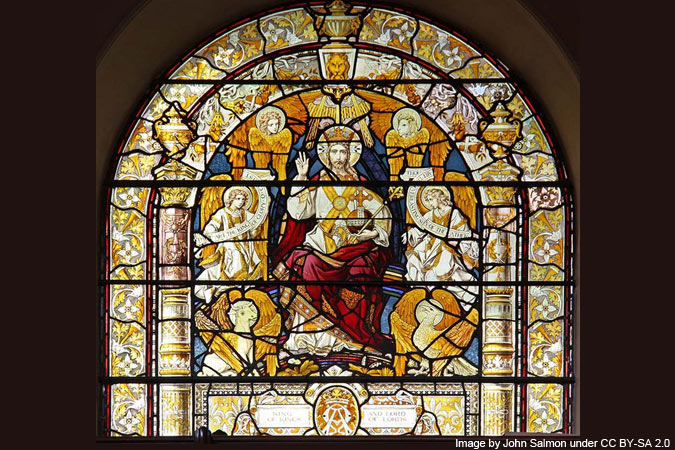 Christ the King window - Image by John Salmon under CC BY-SA 2.0