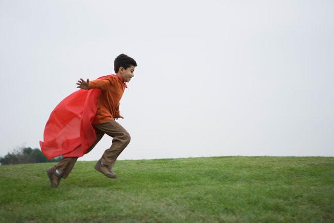 child as superhero