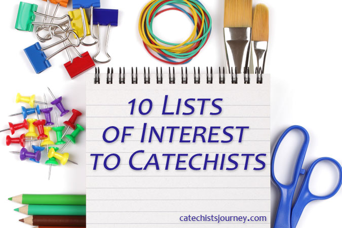 lists of interest to catechists