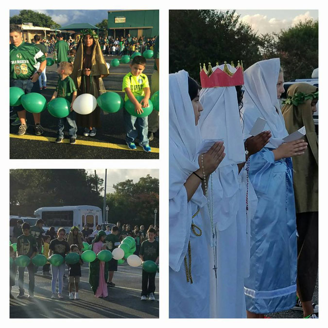 St. Gregory the Great Living Rosary participants