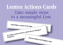 Lenten Actions Cards