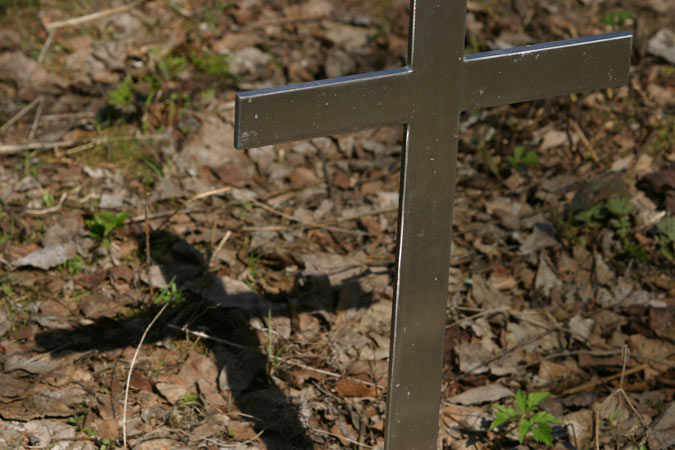 cross with its shadow