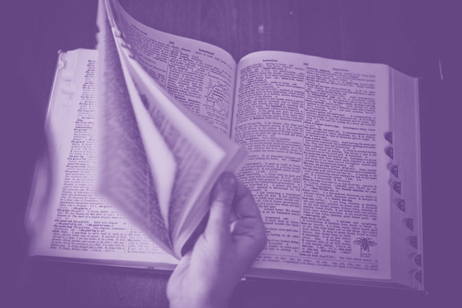 dictionary with purple variants for Lent