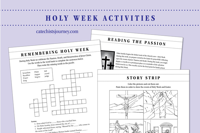 Holy Week Activities Pack