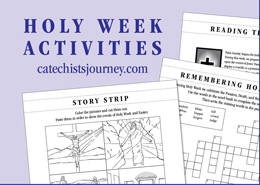 graphic about Holy Week Activities Printable titled 2028-Holy-7 days-Routines-sb - Catechists Trip