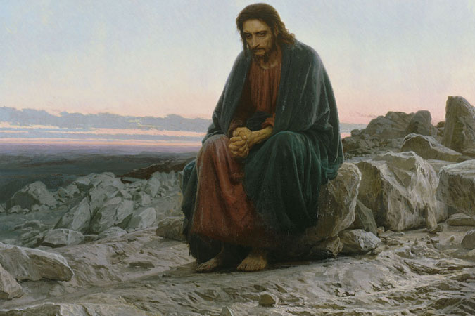 "Ivan Kramskoi - ""Christ in the Desert"""
