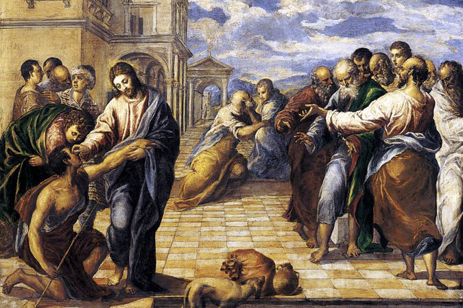 Christ Healing the Blind - El Greco